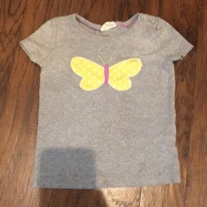 EUC mini Boden butterfly tshirt